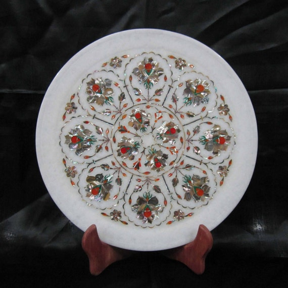 Wall Plates Marble Inlay Art Stone Inlaid Plaques Home