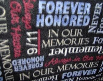 Sept 11 Hero Honor LARGE Fleece Blanket