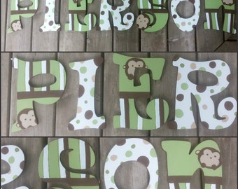 Pop Monkey Inspired Wood Letters