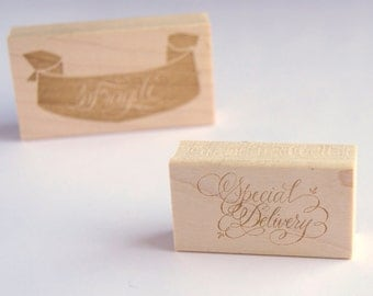 Special Delivery Stamp Written in Calligraphy