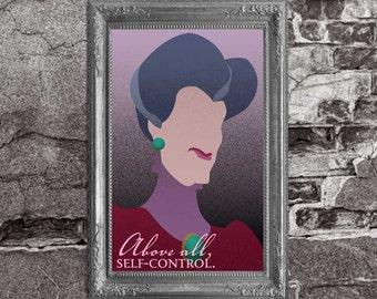 Lady Tremaine - Cinderella / Disney Villains Inspired - Movie Art Poster