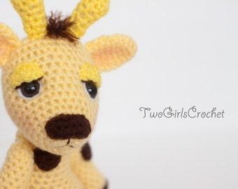 Crochet Giraffe Amigurumi Toy (Jamison) - Made to Order