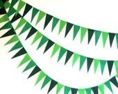 Green Garland Decoration Triangle Pendant Bunting Eco-fi Felt Earth Friendly 6ft Holiday Birthday Party Supply Wedding Child Room