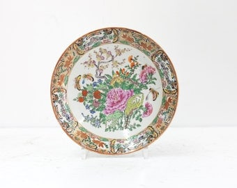 Chinese Butterfly and Rose Dish