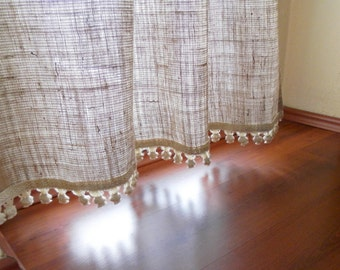 Custom order BLACKOUT Burlap Curtains with by MadeInBurlap