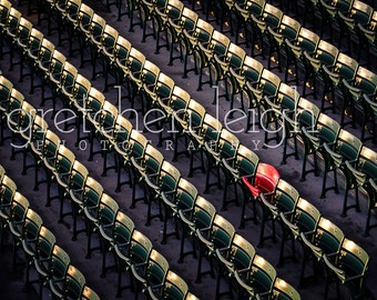 Fenway Lone Red Seat photo multiple sizes- Boston Red Sox decor, fine art photography, baseball, den, man cave, office, bar