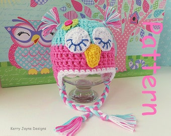 CROCHET OWL HAT Pattern Kerry Jayne Design Baby Owl Hat Pattern Owl Hat Crochet Pattern Baby owl hat pattern Owl Hats Owl Hat Pattern Uk