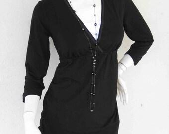 DIANA Maternity Clothing/ Nursing Top Breastfeeding Shirt/ Nursing Clothes NEW Original Design BLACK Shirt Pregnancy Clothes