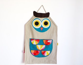 Owl apron. Personalized apron for animals lovers