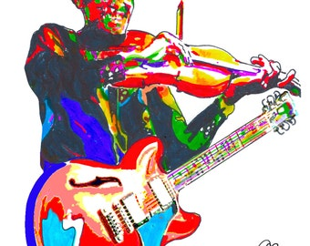 """Clarence """"Gatemouth"""" Brown: POSTER from Original Drawing 18"""" x 24"""" Signed & Dated by Artist w/COA"""
