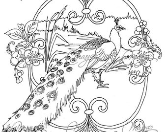 Masja s Peacock coloring page
