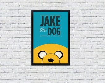 Adventure Time Poster  / Jake the Dog / 12 x 18  TV Print