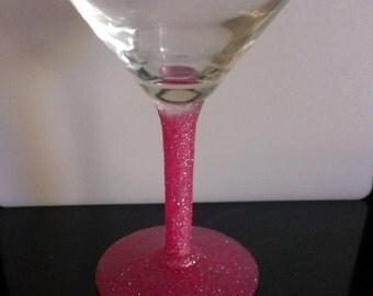 Glittered Martini Glass