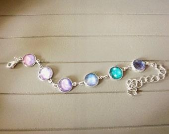 Pale Silver Plated Galaxy Bracelet