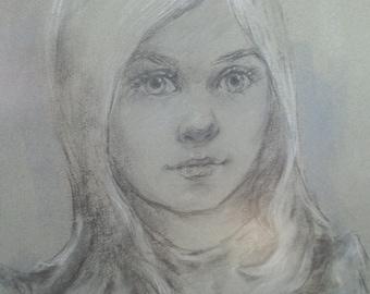 Vintage Portrait of a Girl 1975