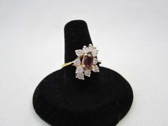 5e5273defc8e3 Ruby Diamond Rings: Vintage ESPO Cocktail Ring, Ruby and Clear ...