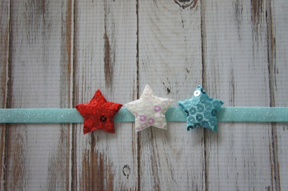 Red, White and Blue Headband, Star Headband, 4th of July Headband, Memorial Day Headband