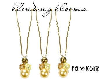 Honeycomnb Single Hair Pin wedding hair accessory, bridal hair accessory, bridesmaid hair accessory, wedding hair clip