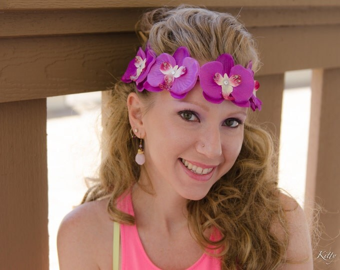 Purple Orchid Flower Crown