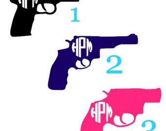 Monogram Gun Decals