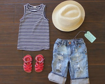The Laguna Jeans - Baby Capris Baby Jeans Baby Shorts Toddler Capris Toddler Jeans