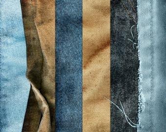 Denim Digital Papers - Denim Paper Blue Jean Texture Background - Work Jeans Digital Scrapbook - Denim Printable Paper - Instant Download