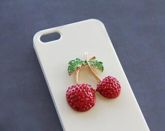 Crystal iPhone 5 Case Rhinestone iPhone 5 Case Bling iPhone 5 Case Unique iPhone 7  5c iPhone 6 Cherry  S5 Cherry Note 23