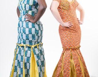 SALE: Ankara Misimi Mermaid Long Dress