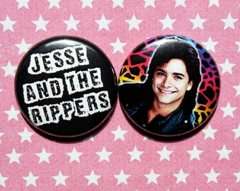 Full House Jesse and The Rippers- One Inch Pinback Button Magnet Set