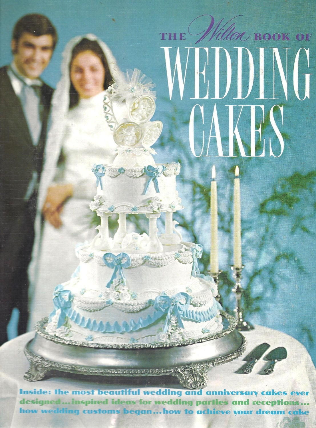 wedding cakes books the wilton book of wedding cakes 1970s cake decorating book 23923