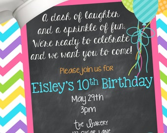 Printable Cooking Party Invitation