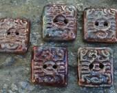 Raku Tribal Scorpion Buttons