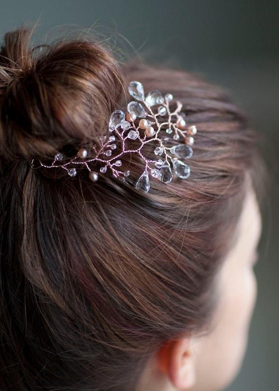 Rosalie - Rose Gold Headpiece