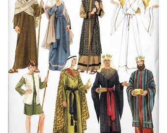 Simplicity 4795 Sewing Pattern Misses, Mens & Teen Boys Nativity Costumes Sizes AA XS-XL