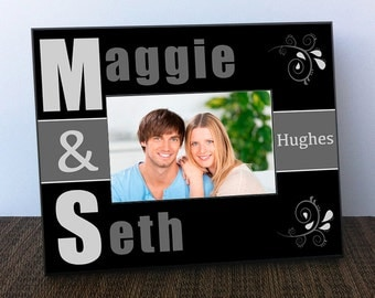 Picture Frame - Personalized Couples Picture Frame - Couple Picture Frame
