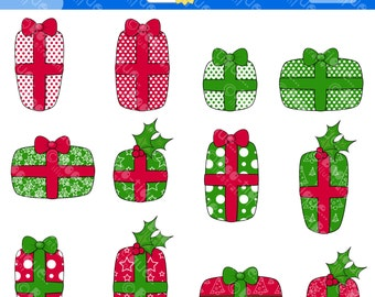 Christmas Presents Digital Clipart. Christmas Clip Art for Instant Download. Xmas Clipart. Presents Clip Art. Presents Clipart.