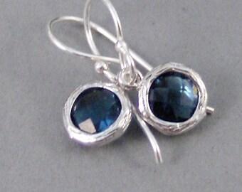 Silver Sapphire,Earrings,Sapphire Earrings,Birthstone,Birthstone Earrings,Sapphire,Blue,Silver Earrings,Sterling.Handmade SeaMaidenJewelry
