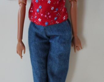 11.5 inch dolls clothes- outfit jeans and t-shirt