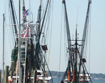 Shem Creek, Shrimp Boats, Mount Pleasant SC.