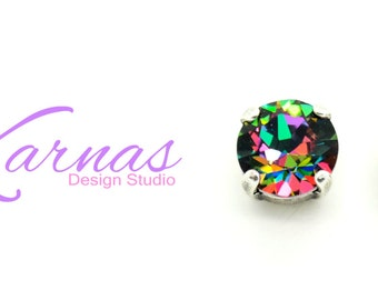 ELECTRA 8MM Stud or Drop Earrings Made With Swarovski Crystal *Pick Your Finish *Karnas Design Studio™ *Free Shipping*