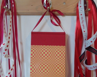 Yellow and Red Chequered Hanging Notebook