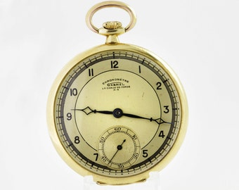 18K Gold Pocket Watch Chronometre Gabriel La Chaux de Fonds