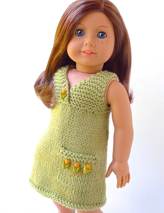 Knitting Patterns For American Doll Clothes : Doll clothes knitting pattern PDF for 18 inch American Girl