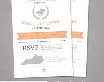 Derby Party Invitations - Kentucky Derby
