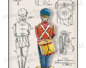 Wolverine No. 27 Drum Major, Patent-Style Schematic, 18 x 24 Art Print