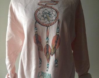 Vintage 1990's Dreamcatcher Wyoming Native American Style Sweatshirt
