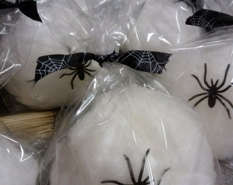 """12 Cotton Candy """"Sticky Spider Web"""" Favors"""