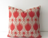 Coral Decorative Pillow Cover 16x16 Square Throw Pillow, Accent Pillow, Toss Pillow