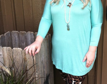 Mint Piko Tunic