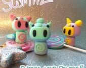 Swirliiz Alien Figure Choose your own colors! Cute Kawaii Polymer Clay Monster Figurine